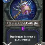 シャーマンに5/4/2断末魔4/2召喚の武器「Hammer of Twilight」来てるな!⇒「捧ぐの方がつよない?」