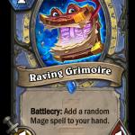 メイジの新カード1/1/1「Raving Grimoire」⇒「絶対都合よく魔導書とか引いてくるやつだろ」「ヨコハマタイヤみたいでうざい」